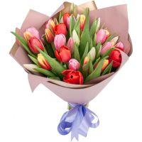 Букет 35 тюльпанов микс