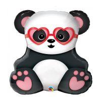 Шар фольга Панда влюблённая