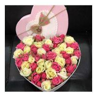 Коробка Розовое сердце