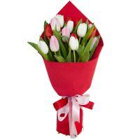 Букет Тюльпаны 15 шт микс